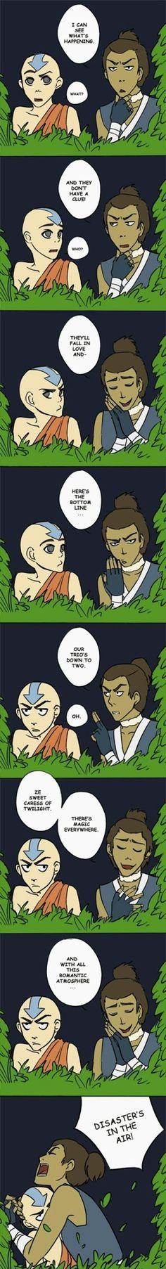 I feel like this actually is what happened when Katara met Jet. haha