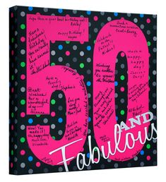 50th Birthday Party 50th Birthday Guest Book 50 by CanvasKudosSHOP