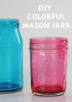 Customize your mason jars with mod podge and food coloring!