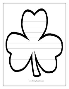 Teachers Looking For Fun Classroom Activities For St. Patricku0027s Day Will  Enjoy This Free, Printable Clover Writing Template, Which Has Nine  Handwriting ...