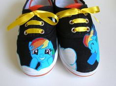 Hand painted My Little Pony shoes