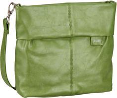 zwei Mademoiselle M8 Green (innen: Beige-Gelb geblümt) - Umhängetasche