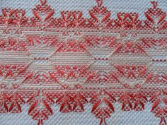 vagonite - Buscar con Google Swedish Embroidery, Types Of Embroidery, Embroidery Art, Ribbon Embroidery, Huck Towels, Swedish Weaving Patterns, Chicken Scratch Embroidery, Monks Cloth, Bargello