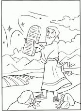 Download Print Moses Receives Ten Commandments Coloring Moses ...