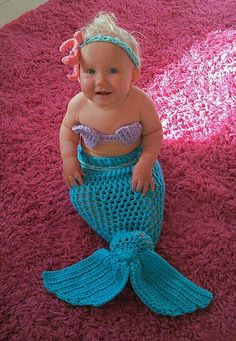 Chubby baby mermaid outfit