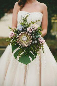 tropical wedding bouquet | Sami Jo Photography