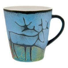 Pentik Studio Reindeer Mug Blue l Season: Lot Color: Ceramics Material: Blue Weight: Kg € Ceramic Materials, Marimekko, Coffee Art, Best Coffee, Ceramic Art, Finland, Cupboard, Reindeer, Holiday Ideas