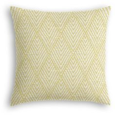 Loom Decor Spring Green Diamond Stitch Custom Throw Pillow... ($92) ❤ liked on Polyvore featuring home, home decor, throw pillows, green toss pillows, green throw pillows, yellow toss pillows, yellow accent pillows and patterned throw pillows