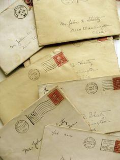 One Stunning 1920-1921 Love Letter from Hazel from reginasstudio via Etsy.com