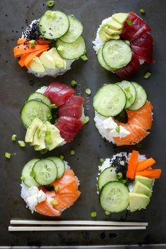 Sushi donuts [750x1125] #foodporn #food #foodie #yummy #yum #foodgasm #nomnom #delicious #recipe