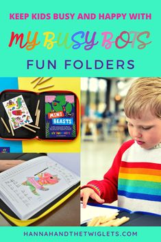 Keeping Kids Entertained With My Busy Bots Fun Folders - Hannah and the Twiglets Messy Play, Homemade Toys, Business For Kids, Funny Stories, Craft Activities, I Am Happy, Educational Toys, My Children, Cool Toys