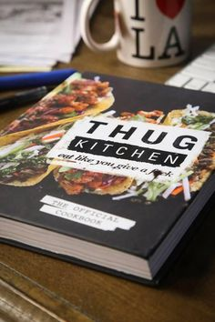 """Photo: Thug Kitchen Let's all stand back and marvel at the sheer force of nature that is Thug Kitchen 's official cookbook, which—for the third time in four months—is the best-selling cookbook on Amazon.com. The book's irreverent tone has clearly struck a chord with readers, who also made it the second-most popular cookbook of 2014. It likely doesn't hurt, too, that its recipes tend toward the healthy side, explains Amazon books editor Seira Wilson. """"After the (over)indulgences of December…"""