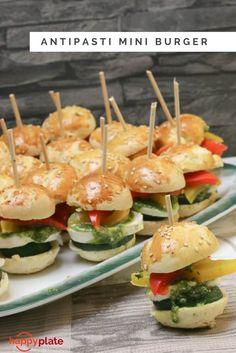 Vegetarischer Antipasti Mini Burger