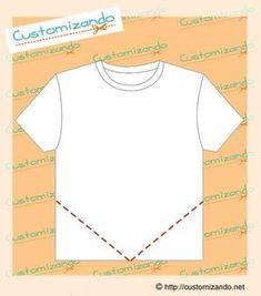 3905cbc8ff cortes de customização de camiseta Como Reaproveitar Roupas