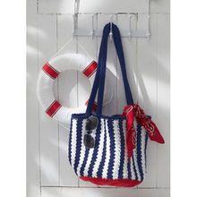 Nautical Crochet Tote