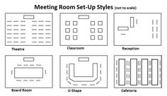 Conference style meeting room set up