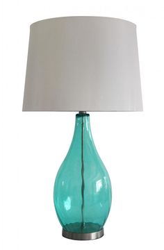 One Light Colored Glass/nickel Table Lamp : 222FG | The Lighting Gallery
