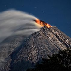 Photo by @johnstanmeyer: An eruption of Mount Merapi in #Indonesia. #volcano