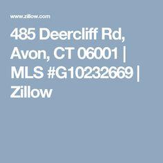 485 Deercliff Rd, Avon, CT 06001 | MLS #G10232669  | Zillow