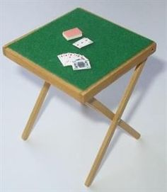 Card Games - Make a miniature folding card table for your dolls house