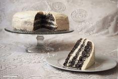 Laskominy od Maryny: Makový dort s krémem z bílé čokolády Sweet Cakes, Celebration Cakes, Butter Dish, Tiramisu, Recipes, Poppy, Heaven, Buns, Tarts