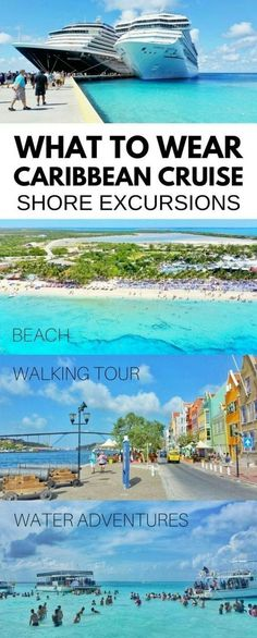 Cruise tips: What to wear on a Caribbean cruise shore excursions, cruise port. Cruise outfits: Things for ultimate cruise packing list, what to pack for Caribbean. What is best bag for shore excursions, beach bag or best backpack for cruise walking tour. Bahamas Cruise, Cruise Port, Cruise Travel, Cruise Vacation, Vacation Trips, Vacation Travel, Beach Travel, Family Cruise, Honeymoon Cruise