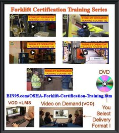 OSHA forklift training program safety video courses for your company's forklift certification training program. From Forklift Operator Training 101 to Training Courses, Training Programs, Supervisor Training, Safety Audit, Training Certificate, Industrial Safety, Vehicle Inspection, Safety Training, Video On Demand