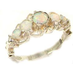 Solid White 9K Gold Genuine Natural Fiery Opal Ring of English Georgian Design - Size 5 - Finger Sizes 5 to 12 Available LetsBuyGold, http://www.amazon.com/dp/B008JX606S/ref=cm_sw_r_pi_dp_ULOqrb0A12PK6