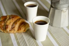 Espresso Cups- Set of 2 'reusable' vending cups by indigomoss limited made by indigomoss Ltd. 20.00 at BOUF