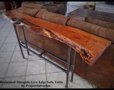 Live Edge Mesquite Sofa Table / Reclaimed Mesquite Sofa Table / Reclaimed Wood Sofa Table775