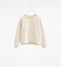Shiny triangles sweatshirt-SWEATSHIRTS-GIRL   4-14 years-KIDS   ZARA United States