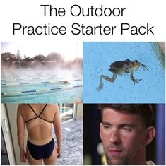 This starter pack for swimming during the summer: 24 Pictures That Are Hilarious But Also Way Too Real To Swimmers Swimming Funny, Swimming Memes, I Love Swimming, Swimming Diving, Swimming Tips, Scuba Diving, Swimming Workouts, Swimming Practice, Swimming Pictures