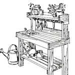 I really want a nice redwood potting table to do double duty - potting table, but mainly buffet table for parties.