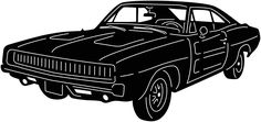 Old Muscle Car Free DXF File #DXF #CNC #machines #plasma #laser #files #ready #cad #Cut #cam $0.00