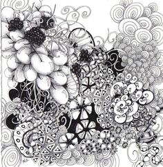 Zentangle Inspiration by Certified Zentangle Teacher Toni Henneman