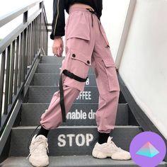 Special Offer of Autumn Streetwear women's pants embroidery Casual Cargo Pants Women Joggers Solid Big Pocket Pants High Waist Loose Female . Cargo Pants Women, Pants For Women, Clothes For Women, Jeans Women, Ladies Pants, Trousers Women, Teen Fashion, Korean Fashion, Unisex Fashion