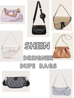 Designer dupe handbags, Shein handbags, dior dupe, louis vuitton dupe, balenciaga dupe, bottega veneta dupe