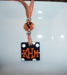 Hand Painted UVA Monogrammed necklace by MyArtisticEscape on Etsy, $12.50