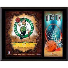 """Boston Celtics Fanatics Authentic 12"""" x 15"""" Sublimated Team Logo Plaque"""
