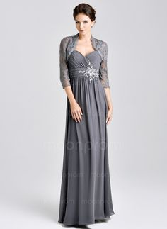 Mother of the Bride Dresses - $177.10 - Empire Sweetheart Floor-Length Chiffon Mother of the Bride Dress With Ruffle Crystal Brooch (0085059617)