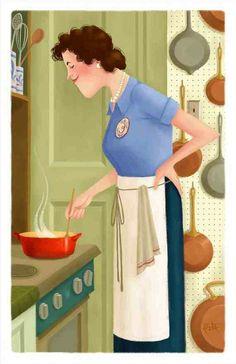 Cartoon Julia @the stove