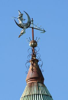 My dream home would have a different one of these adorable weather vanes on each pinnacle!