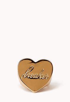 Heart Breaker Signet Ring   FOREVER21 - 1000091980