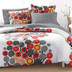 Annansilma US Sized Bedding Ecru/Orange/Grey