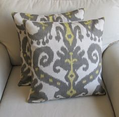 Ikat pillows - Trinity has these as well =)