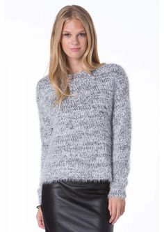 Cozy Knitted Sweater in Grey