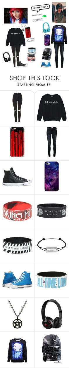 """Hayley X Rhys"" by king-of-adventure-time ❤ liked on Polyvore featuring Topshop, Casetify, Frame Denim, Converse, xO Design, Dinh Van, Fad Treasures and Beats by Dr. Dre"