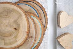 BLUE OMBRE - podkładki drewniane (5 szt.) - Arborea-dekoracje - Podkładki i serwetki