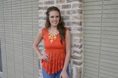 $32.95  Lace is so in for spring!!
