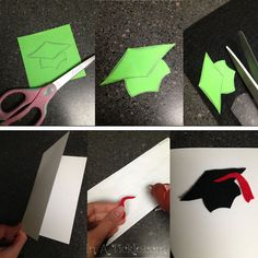 homemade graduation decorations | Homemade Graduation Cards: Thoroughly Thrifty Thursday | In A Tickle